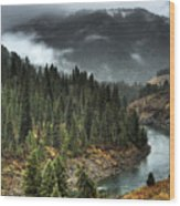 Storm In Snake River Canyon Wood Print