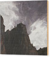 Storm In The Canyon Wood Print