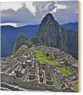 Storm Inbound To Machu Picchu Wood Print