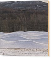 Storm King Wavefield In Snowy Dress Wood Print
