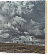 Storm Morocco Wood Print