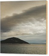 Storm Moving In Over Veli Osir Island In The Morning Wood Print
