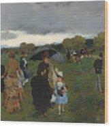 Storm On The Bois De Boulogne Wood Print