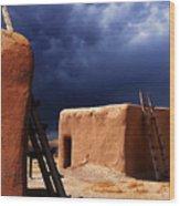 Storm On The Mesa Wood Print