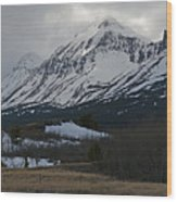 Storm On The Rocky Mountain Front Wood Print