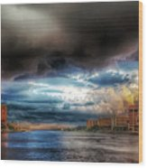 Storm On The Way Wood Print