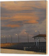 Storm Over Ballast Point Wood Print