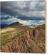 Storm Over Cliffs Wood Print