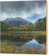 Storm Over Cub Lake Wood Print