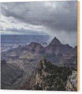 Storm Over Grand Canyon Wood Print
