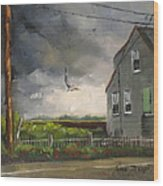 Storm Over Hull Jr Wood Print