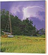 Storm Over Knott's Island Wood Print