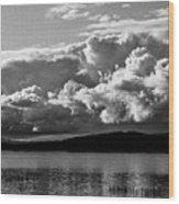 Storm Over Lake Placid Wood Print