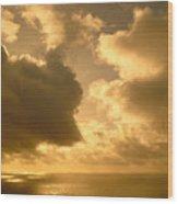 Storm Over Ocean Wood Print