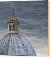 Storm Over Siena Wood Print
