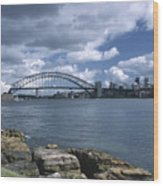 Storm Over Sydney Harbor Wood Print