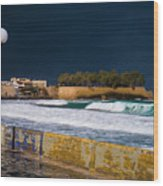 Storm Over The Aegean Wood Print