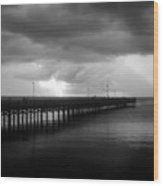 Storm Over The Anclote Wood Print