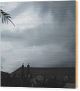 Storm Over The Convent Wood Print