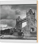 Storm Over Tower Bridge Wood Print
