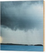 Storm Over Water Wood Print