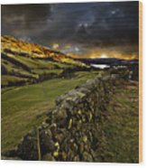 Storm Over Windermere Wood Print