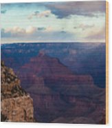 Storm Passes The Grand Canyon Wood Print