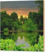 Storm Reflections Wood Print