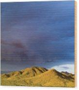Storm Rolling Across Sun Dappled Mountains Wood Print