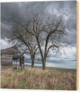 Storm Sky Barn Wood Print