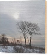 Storm Trilogy--three Harkness Memorial State Park Wood Print