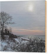 Storm Trilogy-one Harkness Memorial State Park Wood Print