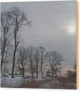Storm Trilogy-two Harkness Memorial State Park Wood Print