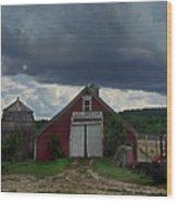Storm Upon Maple Grove Farm Wood Print