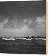 Storm Warning Wood Print