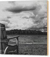 Storm Watching Wood Print