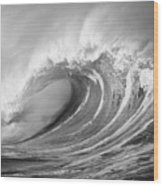 Storm Wave - Bw Wood Print