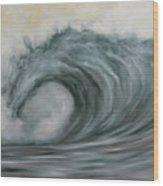 Storming The Beach Wood Print