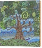 Storm's A Brewin' Wood Print