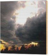 Storm's Coming Wood Print