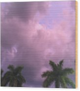 Storms In The Tropics Wood Print
