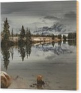 Storms Over Talbot Lake Wood Print