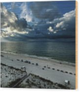 Storms Over The Gulf Of Mexico Wood Print