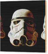 Stormtrooper 1-3 Weathered Wood Print