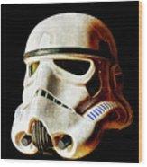 Stormtrooper 3 Weathered Wood Print