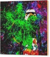 Star Wars Stormtrooper And Fire Wood Print