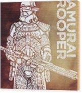 Stormtrooper - Star Wars Art - Brown Wood Print