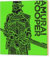 Stormtrooper - Green - Star Wars Art Wood Print