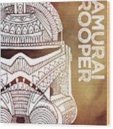 Stormtrooper Helmet - Brown - Star Wars Art Wood Print