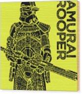 Stormtrooper - Yellow - Star Wars Art Wood Print